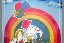 Snoopy + Rainbows / Is there anything cuter than Snoopy under a rainbow? For more Snoopy, Charlie Brown and Peanuts goodness, visit us at CollectPeanuts.com and check out our other boards.