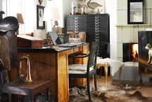 Interiors - Masculine / Ideas to give a more rugged feel to your interiors.