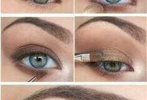 Olhos: tons mais claros