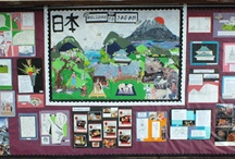 Mount Stewart School Japanese Project / Earlier this year Kuretake donated its discontinued stock to the Mount Stewart Junior School's Art Club, in Harrow. The discontinued stock included pens and traditional Japanese papers. This folder displays what these talented children did with them.