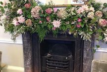 Fireplace Floral decoration / Beautifully decorated fireplaces with flowers