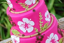 Tropical Flowers Cake