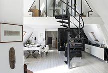 Loft, déco industrielle / Inspirations de déco industrielles, lofts