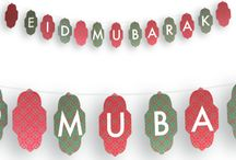 Eid Decorations / Modern & Trendy designs from Halal Celebrations. Eid Bunting to brighten up your home for Eid.