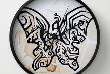 wall clocks / http://society6.com/KellieBecker/wall-clocks