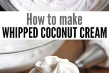 Coconut cream/whipped
