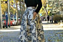 rocking  midi skirts