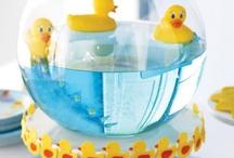 Baby shower cute duck