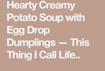 Potato Soup With Dumplings