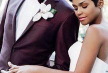burgundy groom