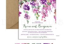 Wedding invitations / Invitations, design, graphics, ornaments