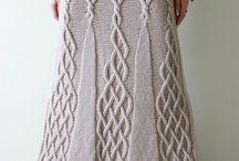 KNITTING, jupe, skirt, Rock, юбки