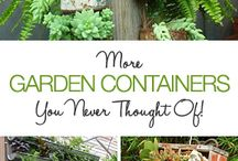 spring and summer garden ideas /  fun, funky, creative ways to spice up or make your garden patio beautiful