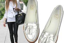 zapatos Plata