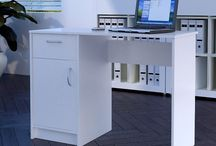 White Wooden Desk Table Drawer Door Computer Study Furniture Storage Workstation