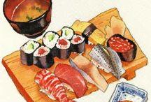 illustration-japanese food