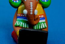 contemporary ganeshas / beautiful hand painted ganeshas on the occassion of ganesh chaturthi at art etc