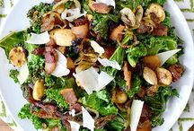 Warm Kale Salad with Almonds etc