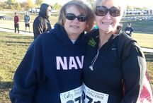 Colby 5k and CrossFit Challenge 2013 / This also had a 1 mile dash. It was a beautiful day spent with my mother and sister.