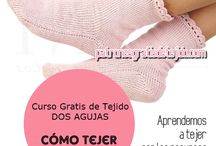 calcetines tejidos con agujas doble Punta o circulares  tutoriales