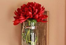 Blomster vase ophængt