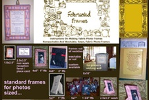 my book on how to make fabric photo frames / by http://fabricatedframes.com