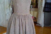 Lina Liri's Elegant High Fashion Beige Color Dress Fourreau Style With Tulle. / Lina Liri's Elegant High Fashion Beige Color Dress Fourreau Style With Tulle.