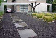 Pathway / Concrete+gravel