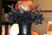 Halloween centerpieces and decor