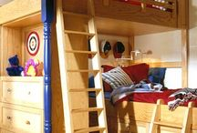 Kids' Bedroom Ideas & Shared Spaces / Ideas for shared spaces - kid's bedroom decor, living room decor, home decor for small nooks of your house!