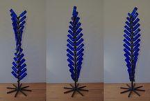support bouteilles de vin / sculpture presentoir