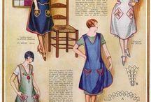 1920s Wmn - Aprons & House Dress