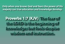 Precepts In Proverbs / Teachings from the Book of Proverbs