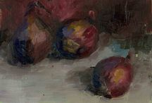 Trines red oniens / Her er mine oljemalerier av rødløk