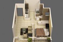 Plans d'habitation
