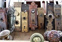 Vintage Rusty Door Plates