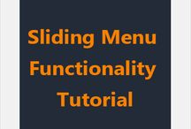 Sliding Menu Functionality Tutorial / Hamburger Sliding menu functionality tutorial with instant-deployable source code. http://learnsauce.com/androidslidingmenu/