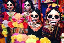 Sugar skulls / Sugar skulls, day of the dead, art and fashion highlighting the beauty of skulls and the afterlife culture
