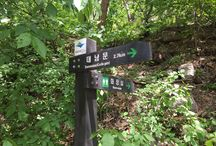 Bring It On Trail Run Road Sign 10 / 이정표와 화장실 안내판 (Road Sign and Rest Room Sign) GPS: 37.648396  126.972664 고도(Altitude): 310m