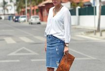 The Denim Pencil / Styling the perfect Denim Pencil / by Cassandra Adame