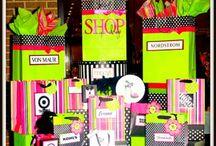 Silent auction displays - Haileybury