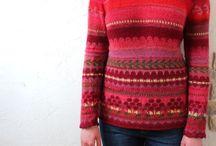 multicolor knitting