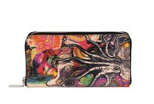 Wallet - Octopus's Garden / Women Leather Wallet, Limited Edition Designer Leather Wallet COLOURS OF MY LIFE - Limited Edition wearable art signed by Anca Stefanescu.