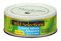 Wild Selections Products / Whether it's a quick snack or a magnificent meal, Wild Selections has the perfect catch. Always nutritious, always MSC certified sustainable and always delicious. That's Wild Selections — the first premium line of sustainably caught seafood that also gives back by supporting World Wildlife Fund conservation efforts, including marine and fishery programs. Trace the catch in your can back to the fishery where it was caught at WildSelections.com.