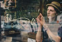 shop window painting