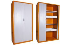CUPBOARD / Stylish and functional in design, our Tambour Door Cupboards are highly efficient in space management as the doors slide within the cupboard.