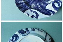 Sea theme pottery