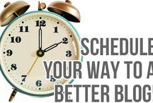 Blogging | Schedules