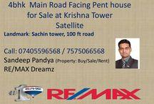 4bhk Penthouse for Sale in Satellite Krishna tower 100 ft road near Shyamal Cross Roads