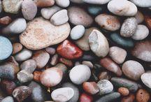 Sea stones. Photos and art